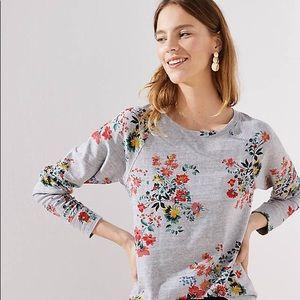 Loft Petite Winter Bouquet Sweatshirt